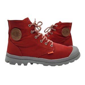 Palladium PAMPA Boots Mens 10.5 Sneaker Shoes HI TOP Red Waterproof Light Weight