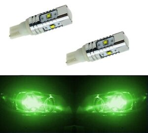 LED Light 30W 168 Green Two Bulbs Front Side Marker Parking Show Use Stock Fit