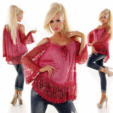 3/4 Arme Taillenlang Damenblusen,-Tops & -Shirts im Tuniken-Stil für Freizeit