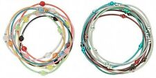 2 Styles Steel Stretch Bracelets MIX ~ 16 strands Mixed Colors w/ Colorful Beads