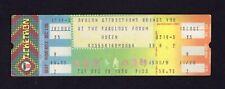 1978 Queen unused full concert ticket Los Angeles Forum Freddie Mercury Jazz