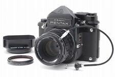 【N.MINT+】Pentax 6x7 TTL 67, Takumar 90mm LS Lens, Hood, Release, from Japan #u21