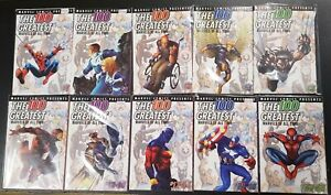 THE 100 GREATEST MARVELS OF ALL TIME COMIC RUN #1-10 (NM) All NEW