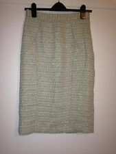 Jaeger Pale Green Tweed Pencil Skirt. 8