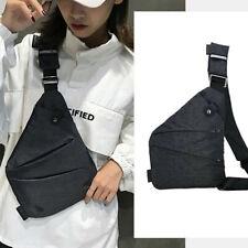 Fashion Mens Womens Sling Bag Casual Canvas Chest Bag Anti Theft Crossbody Bags