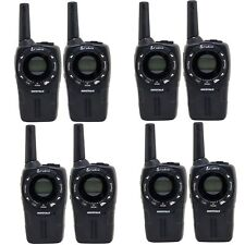 Cobra CXT235 MicroTalk 20 Mile FRS/GMRS 2 Way Walkie Talkie, Black (8 Radios)