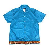 COMME DES GARCONS Homme Plus Large Short Sleeve Mens Jersey T-Shirt Blue NEW