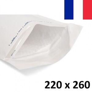 5X Enveloppe Bulles Matelassées Blanches 220x260mm 22x26cm E/5 K7 Livre