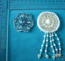 Plastic Beads Appliques, Sew on Patch Beaded Appliques, Motif Should Patch 2pcs