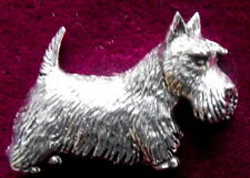 Pewter Scottie Scotty Dog Brooch Pin  Quality