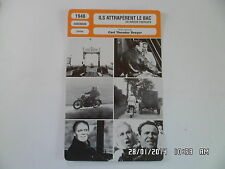 CARTE FICHE CINEMA 1948 ILS ATTRAPERENT LE BAC Carl Theodor Dreyer Jorgen Roos