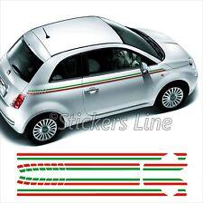 Adesivi Fiat 500 FASCE TRICOLORI strisce adesive bandiera italia adesivo