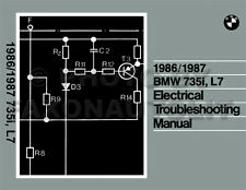 1986-1987 BMW 735i and L7 Electrical Troubleshooting Manual Wiring Diagrams Book