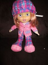 """Uneeda mod little cloth and rubber face doll 10"""" redhead cute"""