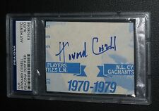 Howard Cosell Signed Cut Card PSA/DNA COA Autograph Monday Night Football Boxing