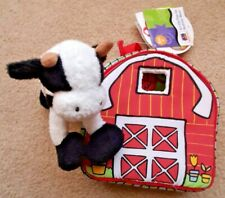 """E-I-On-the-Go Activity 8"""" Cloth Barn + 7"""" Soft Cow w/tags - New -Free Shipping"""