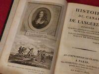 HISTOIRE DU CANAL DE LANGUEDOC (Canal du Midi) Rare EO 1805 Pierre Paul RIQUET