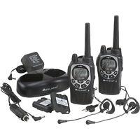 Midland Handheld GMRS Two Way Radio Pair Walkie Talkie- 36-Mile Range, Black