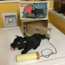 Alps Vintage Battery Operated Fighting Bull Fully Working (Smokes) W/Box! Sweet!