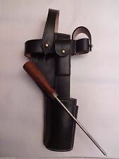 German C96 Broomhandle Mauser Black Leather Holster w/Cleaning Rod -Reproduction