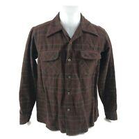 Vintage Pendleton Men's Virgin Wool Button Down Plaid Board Shirt USA Medium