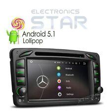"7"" 2 DIN Android 5.1 Car Radio DVD Player DAB+ GPS Mercedes-Benz C-W203 CLK-W209"