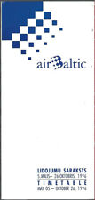 Air Baltic system timetable 5/5/96 [7072] Buy 4+ save 25%