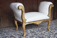 EN PROMO: banquette en bois massif doré à la feuille d'or d'un château à Bdx.