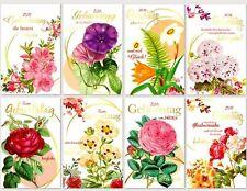 50 X Geburtstagskarten Glückwunschkarten Klappkarten mit Kuverts Top