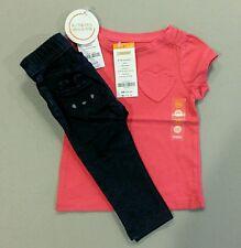 NWT Gymboree Girls' Outfit--Pink Shirt/Indigo Skinny Pants, 6-12 Months