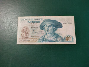Belgium Banknote 500 Francs 1971 !!!!!!!