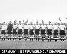 Germany - 1954 FIFA World Cup Champions 8x10 B&W Team Photo