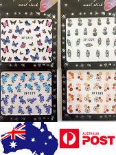 Flower Butterfly Cute Water Transfer Nail Art Sticker Decal Gift