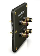 1 Stück Viablue R-150 schwarz / HighEnd   Bi-Wire-Terminal   / T6s Polklemmen