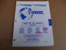 1995 OMC 25D 40 50 35JET HP outboard parts catalog Johnson Evinrude 437478