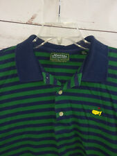 The Masters Collection Augusta National Golf Course Striped Polo Mens Large