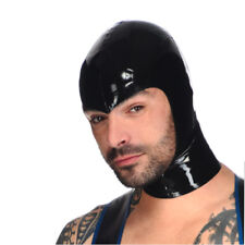 Realistic Latex Mask Rubber Unisex Hood with Zipper Open Face for Catsuit Wear