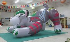 Beautiful colors inflatable tiger size 2.5m long