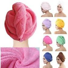Large Hair Turban Towel Hat Hair Wrap Quick Dry Microfibre Bath Towel Cap Newly