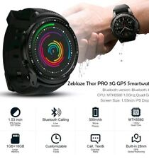 Zeblaze THOR PRO Bluetooth 3G GPS WiFi Smart Watch Phone For Android iOS 1G-16GB