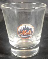Shot Glass New York NY Mets Baseball Crystal Clear Barware