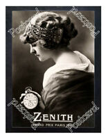 Historic Zenith Pocket Watches Advertising Postcard