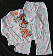 NWT Paw Patrol Girls Pajamas Size 4/5 PJ's Nickelodeon 2 Piece White Snowflake