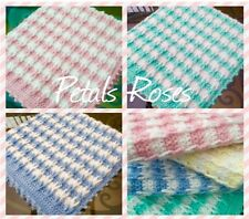 Cable Loop Baby Blanket/Throw Crochet Pattern