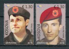 Kosovo 2018 MNH Heroes Bedri Shala Bekim Berisha 2v Set Military Stamps