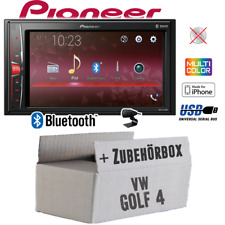 Pioneer Autoradio für VW Golf 4 lV Bluetooth MP3 USB 2DIN PKW KFZ Einbauzubehör