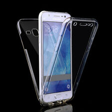 Front & Back Clear 360° Full protection Gel Cover Skin Case For Samsung J3 2017