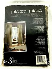 Softline Home Plaza Plaid Lagoon Lined Rod Pocket Panel & Back Tabs 52 x 84 New