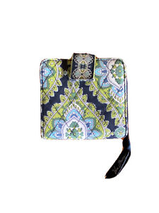 Vera Bradley Small Trifold Wallet Cambridge Blue & Green