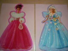 Vintage Set of 2 1996 Hallmark Collector Barbie Songbird & Glamour Cards Unused